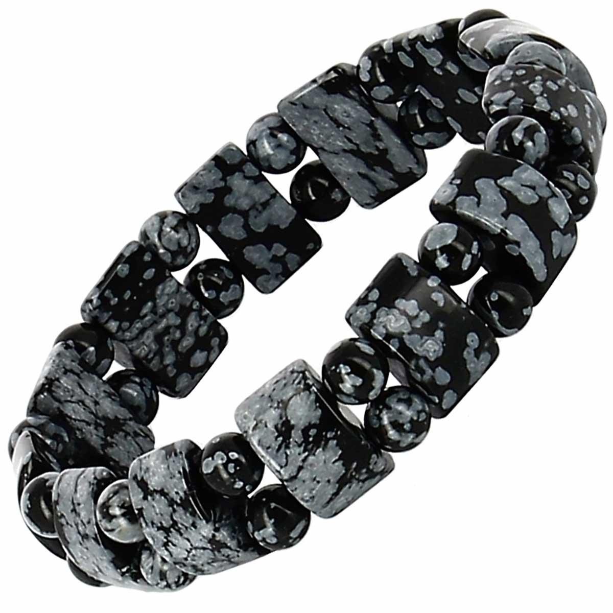 Bracelet tank Obsidienne mouchetée