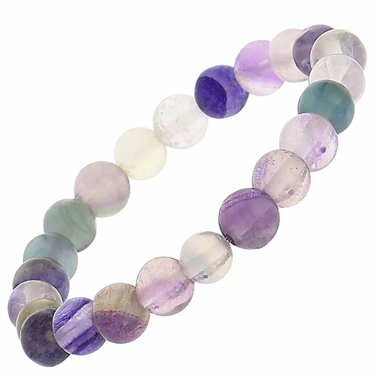 Bracelet pierres rondes flurine