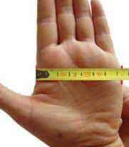 Mesure taille de la main pour bracelet jonc