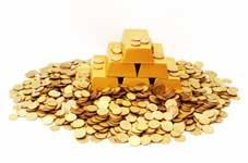 Tas de pieces d'or