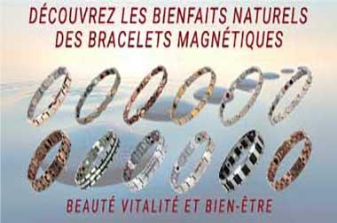 Bracelets magnetiques antidouleurs et antistress